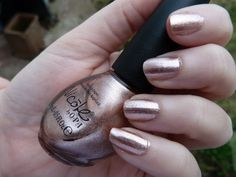 Rose Gold Nails - Nicole by OPI nail polish featuring the Kardashian Kolor collection!