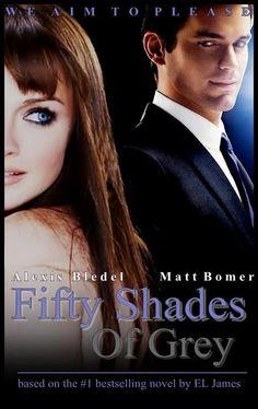 Fanmade Poster – Matt Bomer as Christian Grey / Alexis Bledel as Anastasia Steele #FiftyShadesofGrey by E L James