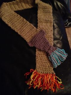 Fire hose scarf for my little firefighter Randall