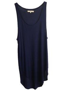 Monk + Lou long navy tank/dress