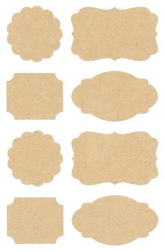 Pack of 32 kraft label stickers in four different styles. Scallop and rectangle stickers measure across and the larger label stickers measures across. These gorgeous stickers are perfect for using on cards and gifts or for sea Printable Labels, Printable Paper, Printables, New Crafts, Diy And Crafts, How To Make Labels, Rico Design, Handmade Tags, Aesthetic Stickers