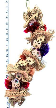 Crunchy Caterpillar- Shredder Foraging Bird Toy - Great for foraging. Bird Toy for medium sized birds.