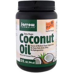 Jarrow Formulas, Органическое кокосовое масло первого холодного отжима, Отжато шнековым прессом, 32 унции (946 мл)