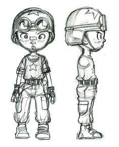 Character design for comic book - Tank Boy by donartdesign, via Flickr