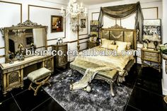 Royal Luxury Classical Bedroom Furniture Set - Bed, Bench, Night Stand, Dresser, Stool, Cabinet, MOQ:1SET(B21287), View antique bedroom furn...