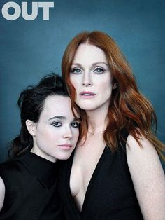 Ellen Page and Julianne Moore by Ruven Afanador for Out Magazine (October 2015)