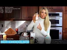 If you love hot chocolate like I do, then this will be your new favorite recipe! Dannette May Recipes, Clean Eating Recipes, Raw Food Recipes, Healthy Recipes, Hot Chocolate Cookies, Hot Chocolate Recipes, Healthy Drinks, Healthy Snacks, Danette May