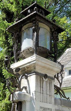 Art Nouveau Architecture, Architecture Details, Street Lamp, Austria, Gazebo, Around The Worlds, Exterior, Outdoor Structures, Sculpture