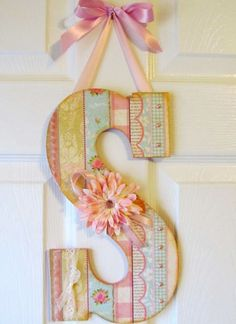Large Wall Letter  Custom 135 by DebbieSaenz on Etsy