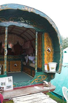 Gypsy caravan...maybe for the outside of the cabin??