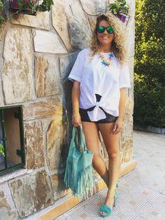 Look #camisa anudada @zara - #sandalias de tiras @pedromiralles @lolitablu