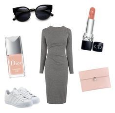 """""""Untitled #3"""" by nolwennbrc on Polyvore featuring Whistles, adidas Originals, Alexander McQueen, Christian Dior, women's clothing, women, female, woman, misses and juniors"""
