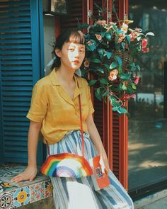 These three fashionable tops are worth buying Big Fashion, Asian Fashion, Vintage Fashion, Fashion Outfits, Korean Outfits, Asian Style, Portrait Photography, Summer Outfits, Street Style