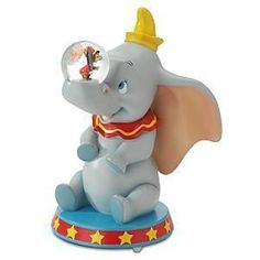 Jumbo Dumbo Disney Snow globe..... His name is jumbo jr. And his BFF is Timothy mouse! I need this globe