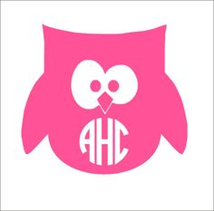 Owl Monogram Decal Personalized Decal Owl Decal Car Decal Yeti - Owl custom vinyl decals for car