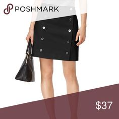 💙HP💙 Michael Kors Button Black Mini-Skirt 🚨This item is a Host Pick!🚨  Size information: Women's Size 12 (US)  Condition Notes: New with Tags  We will consider all reasonable offers. Thanks for shopping with us! MICHAEL Michael Kors Skirts Mini
