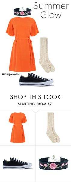 """ORangNge"" by hijackedish on Polyvore featuring Monsoon and Converse"