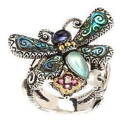 barbara bixby necklace | Barbara Bixby Sterling/18K Multi-Gemstone Dragonfly Ring