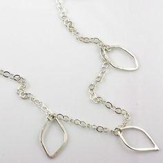 Manzanita Leaf Necklace Long