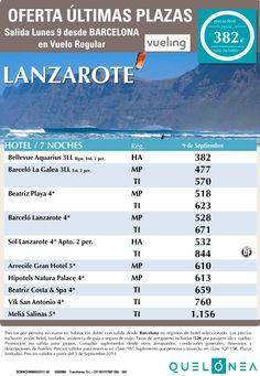 Oferta Septiembre Lanzarote desde 382€ Tax incl. Salidas desde Bcn 9 de Septiembre - http://zocotours.com/oferta-septiembre-lanzarote-desde-382e-tax-incl-salidas-desde-bcn-9-de-septiembre/