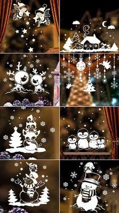 12 идей как украсить окна на Новый год своими руками - Фото Креатив