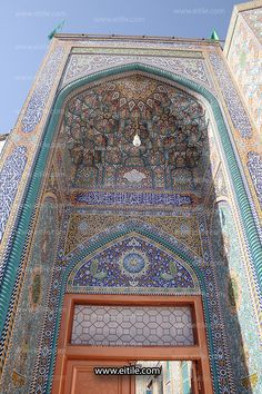 [Designing Islamic tile panels for mosque] Islamic Tiles, Islamic Art, Moroccan Doors, Tile Art, Mosaic Tiles, Swimming Pool Tiles, Tile Panels, Gothic Furniture, Beautiful Mosques