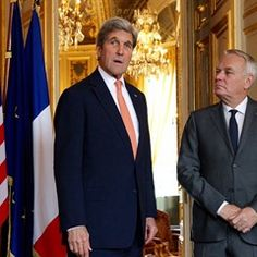 Jean-Marc Ayrault meets with US Secretary of State John Kerry (306109)