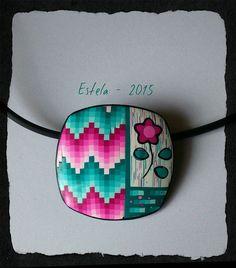 Polymer Clay Pendant | Estela