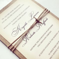 Rustic Chic Wedding Invitation by TheMemoryTrunk on Etsy, $3.50