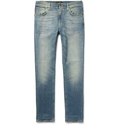 'Jeans are more than just a piece of clothing. They are a passion, and a passion you feed with love every day,' says Mr Palle Stenberg, CEO of <a href='http://www.mrporter.com/mens/Designers/Nudie_Jeans'>Nudie Jeans</a>. Made from organic denim, this 'Lean Dean' pair is designed in a slim cut and has a hint of stretch for flexibility. They are washed, whiskered and faded for an authentically well-worn look that requires no...