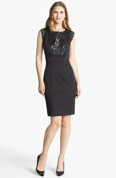 Alexia Admor Embroidered Detail Knit Sheath Dress available at #Nordstrom