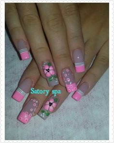 Cute Nail Art Designs, French Nail Designs, Colorful Nail Designs, Acrylic Nail Designs, Cute Pink Nails, Pastel Nails, Pretty Nails, Queen Nails, Magic Nails
