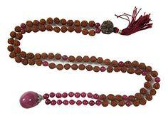 Rudraksha Mala Beads Pink Jade 108 Prayer Buddhist Meditation Rosary Hindu Prayer Gift Idea Mogul Interior http://www.amazon.com/dp/B00P26PB3I/ref=cm_sw_r_pi_dp_Puavub1TY8WYC