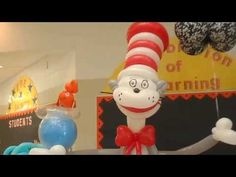 450th Balloon Sculpture, Cat in the Hat and Thing 1 & Thing 2 Display – Patricia Balloona