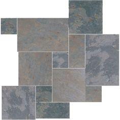 Daltile Natural Stone Collection Indian Multicolor Versailles Pattern Slate Floor and Wall Tile Kit (15.75 sq. ft. / kit)-S771PATTERN1P at T...