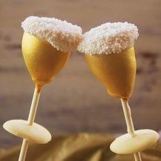 Champagne Glass Cake Pops