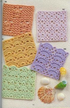 262 Crochet patterns plus borders for when I learn to read diagrams.