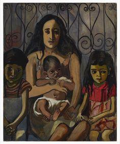 Alice Neel: Espanjalainen perhe, 1943. Estate of Alice Neel. Kuva: Malcolm Varon, New York © Estate of Alice Neel