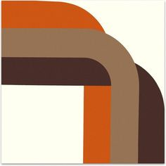 Right Angle 1970s Brown, Orange & Tan Supergraphic ($350) ❤ liked on Polyvore featuring home, home decor, wall art, backgrounds, prints, framed wall art, 70s home decor, brown wall art, orange home decor and brown home decor
