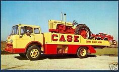 Ford COE with Case tractor