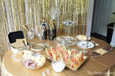 Food and snacks for a Roaring Twenties Party by Two Purple Couches