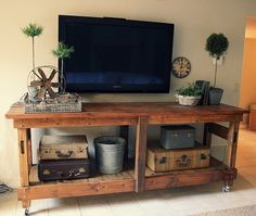 Pallet entertainment center ideas home improvement . pallet entertainment center diy plans home improvement . Furniture, Industrial Workbench, Home Projects, Interior, Entertainment Center, Pallet Tv Stand, Home Decor, Home Diy, Pallet Furniture