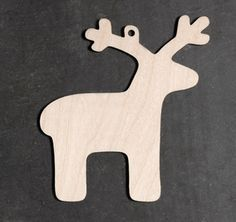 10 x Wooden Reindeer Christmas Decorations Gift Tags Rustic Hanging Craft Shapes | eBay