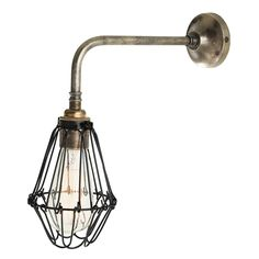 Picture of Praia vintage cage wall light