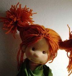 Guess who is she #waldorfinspireddoll #pippilongstocking #guesswhois#puppenwaldorf #poupeewaldorf #creativ #childhood #bemkadoll #workinprogress #wooldoll #ecofriendly