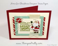Sneak Peek Cozy Christmas Card Ideas - http://stampinpretty.com/2015/08/sneak-peek-cozy-christmas-card-ideas.html  A cool, retro holiday vibe with Cozy Christmas stamp set and Home for Christmas Designer Series Paper.  More details & Stampin' Up! card ideas on my Stampin' Pretty blog, http://stampinpretty.com.  Mary Fish, Independent Stampin' Up! Demonstrator.