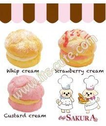 Cafe Sakura Cream Puff Squishy.