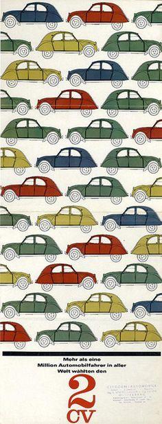 Affiche #Citroën #2CV
