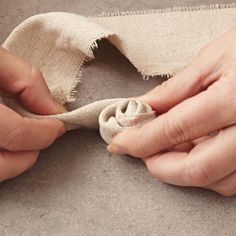Twist and wrap fabric to form petals