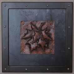 Hand Made Copper Repousse / Chased - Maple Leaf Tile by DEBRA ...